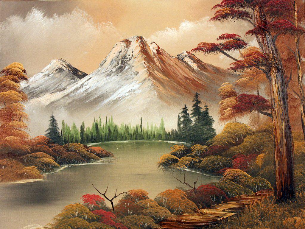 Autumn Mountain Fantasy Art Landscapes Nature Art Painting Mountain Landscape Painting