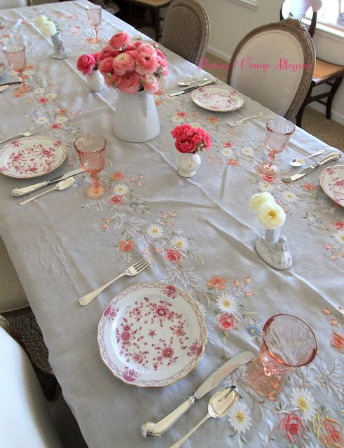 French Table Setting in Pink | Pinterest | French table