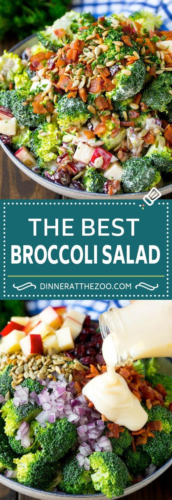 Broccoli Salad Recipe  Broccoli Salad Recipe   Creamy Broccoli Salad   Bacon Broccoli Salad