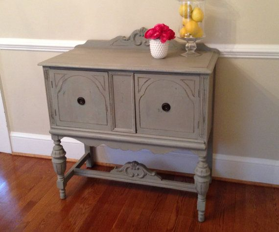 Small Buffet Sideboard Hand Painted Duck Egg By TheBlueAppleseed