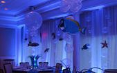 Underwater Themed Centerpiece with Balloon Grass Base, Balloon Bubbles & Floating Fish