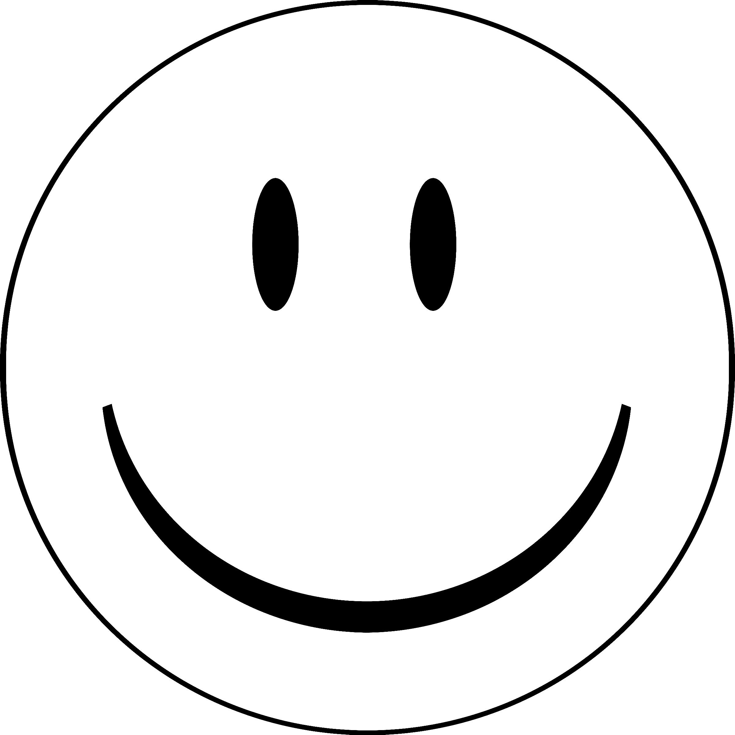 Blank SmileyFace Coloring Pages for kids Pinterest Smiley