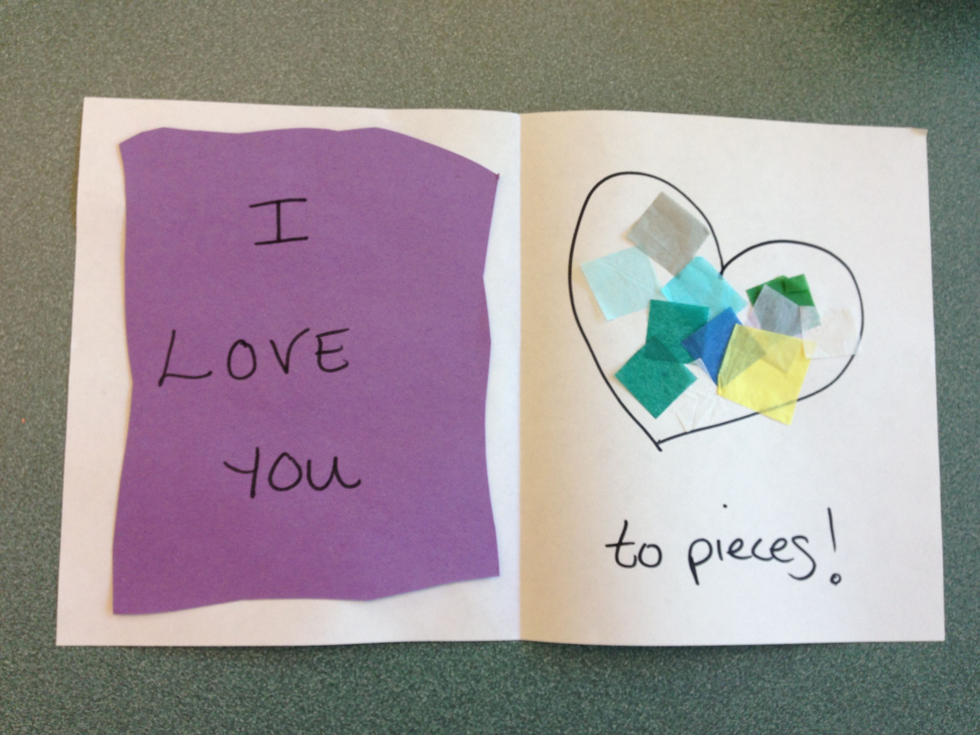 Homemade Mothers Day Card Craft For Toddlers