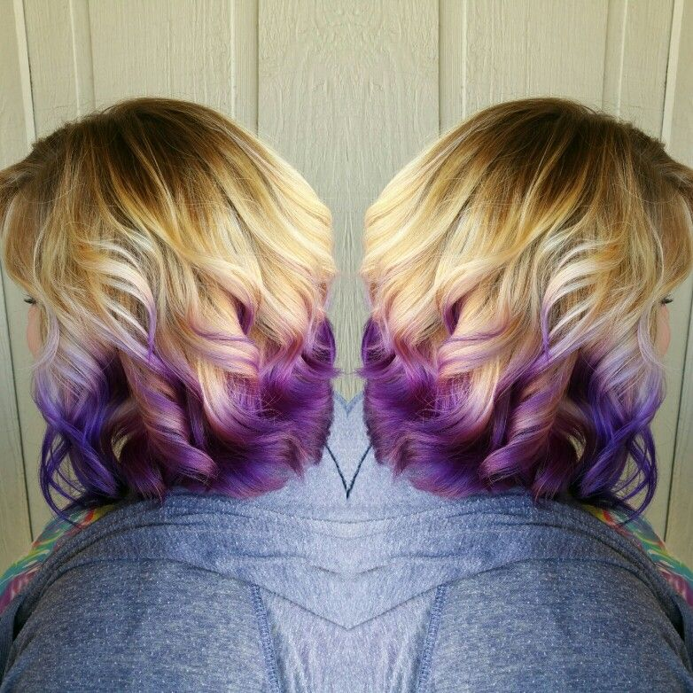Pin By Kelsey Mc Farlane On Girly Hairstyles Hair Dye Tips Purple Ombre Hair Hair Color Purple