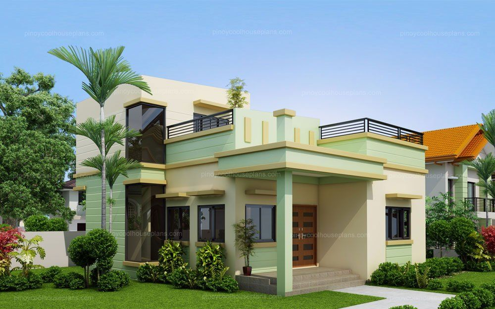 One storey house with roof deck casa linda design small also concepts houseconcepts on pinterest rh