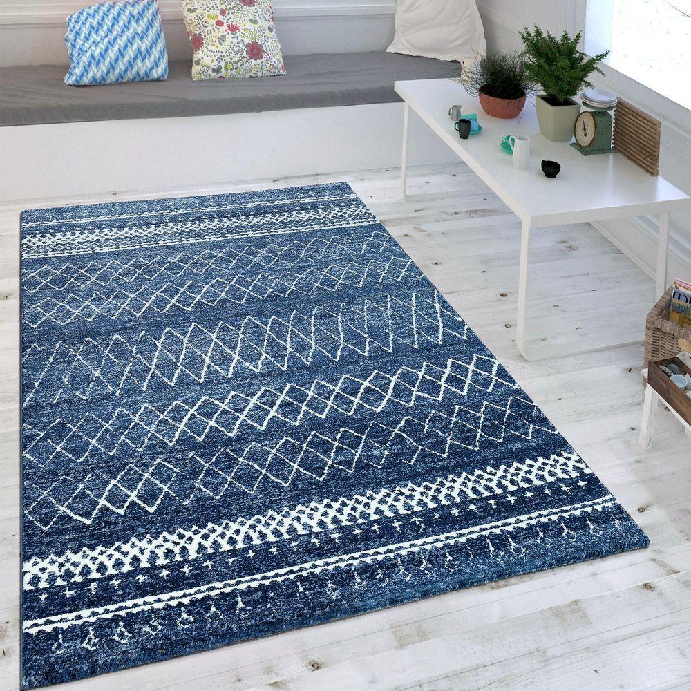 Wohnzimmer Teppich Indigo Blau Trend Modernes Skandinavisches Muster Rakuten Wohnzimmer Teppich Teppich Grosse Teppiche