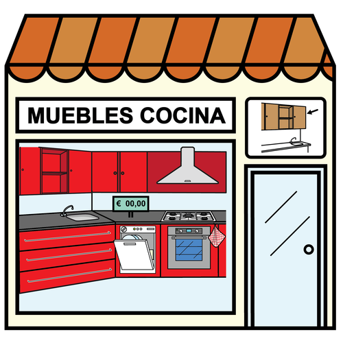 Pictogramas ARASAAC - Tienda de muebles de cocina. | Sistema ...