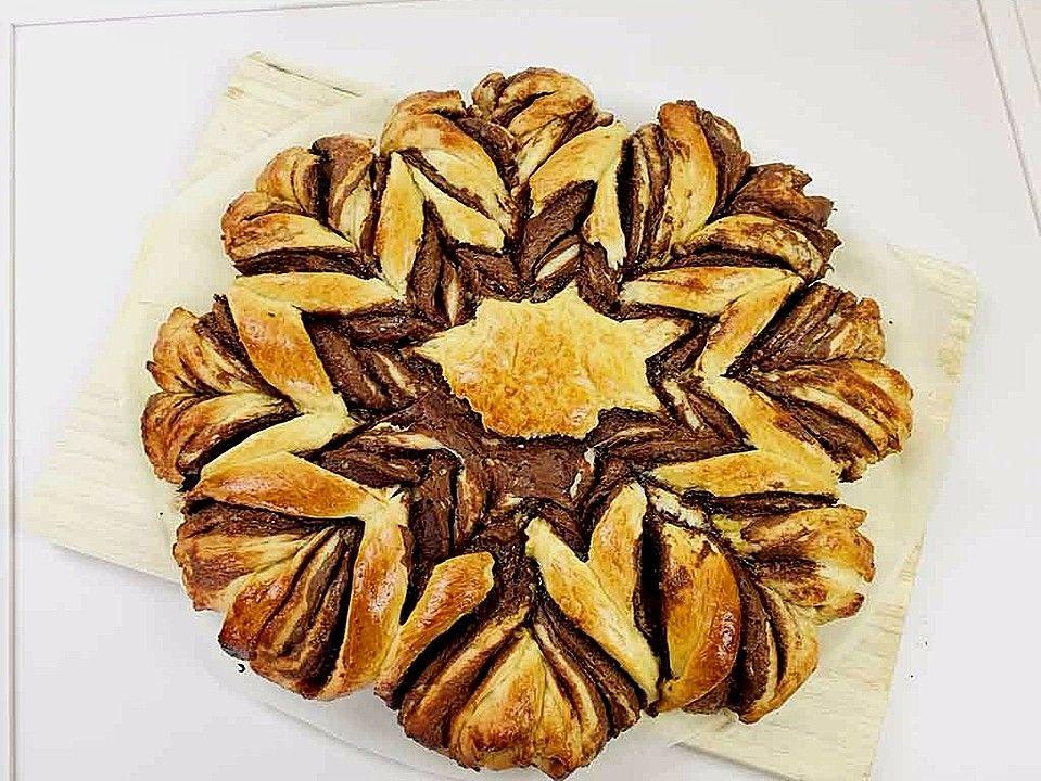 Nutella-Blume aus Brioche