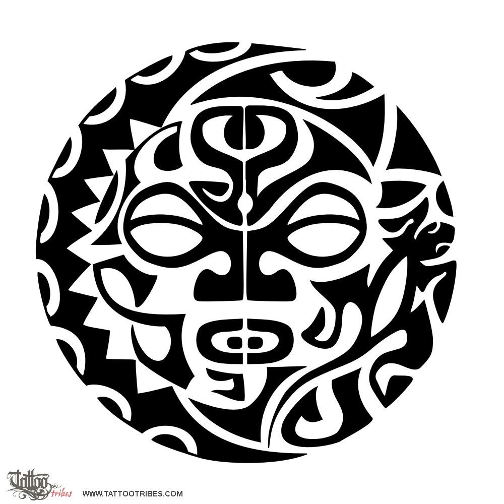 Maori Sun Tattoo: Sun-moon-tattoo.jpg (1000×1000)
