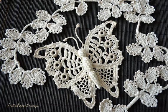 сrochet applique Irish crochet Wedding for Boho beauties Crochet ...