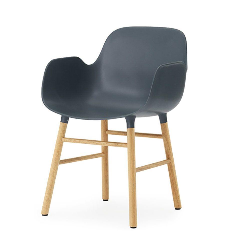 normann COPENHAGEN Form Armchair - Eiche - Farbe: blau Jetzt ...