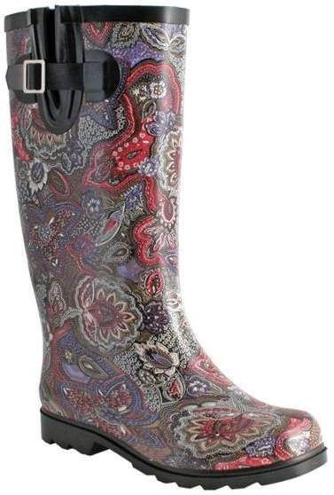 e3a757532ad NOMAD Rubber Rain Boots - Puddles Paisley in 2019 | Products | Rain ...