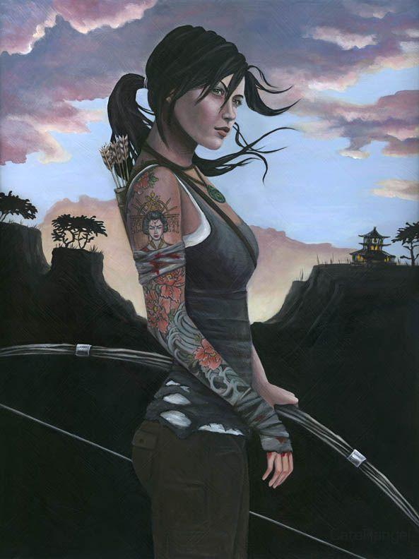 Lara Croft Underworld/Movie Hybrid 2 by JennCroft on