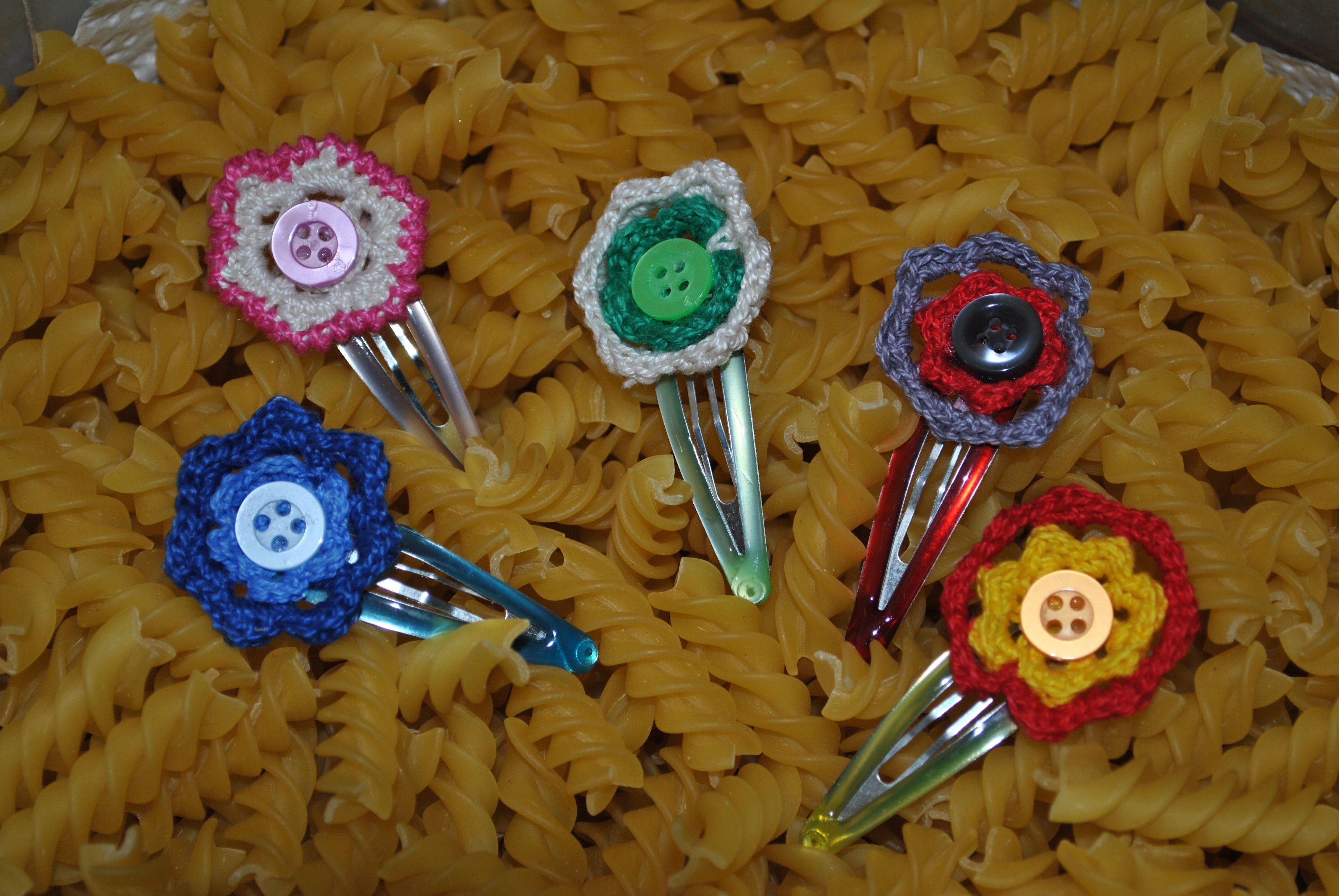 Crochet Hair Clips Pinterest : hair clips crochet crochet Pinterest
