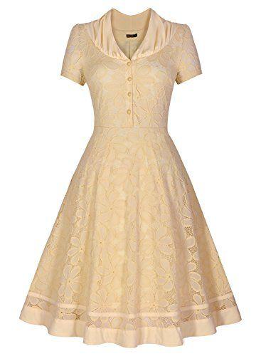 Miusol Women's Retro V-Neck Floral Lace Cap Sleeve Elegant Formal Dress (3220) (Large, Beige) Miusol http://www.amazon.ca/dp/B017II9RVE/ref=cm_sw_r_pi_dp_rMVMwb1XGYAE4