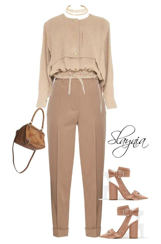 """Toffee"" by slaynia ❤ liked on Polyvore featuring Bottega Veneta, Issey Miyake, Kenneth Jay Lane and Givenchy"