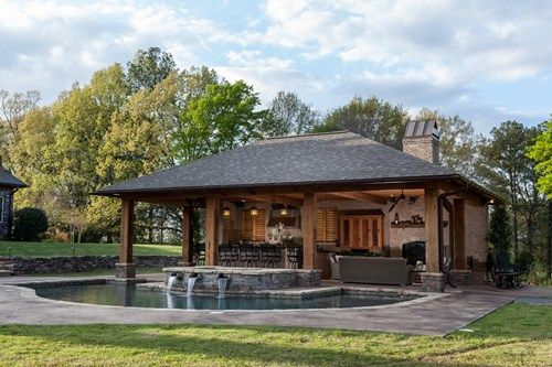 Rustic Pool House In Mississippi Rustic Outdoor Spacesoutdoor Living