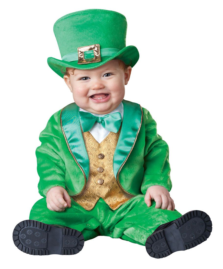 St Patricks Day Costumes Green Tuxedo Costume Details At - Dad turns his 6 month old son into real life leprechaun for st patricks day