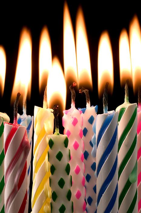 Birthday Candles By Garry Gay