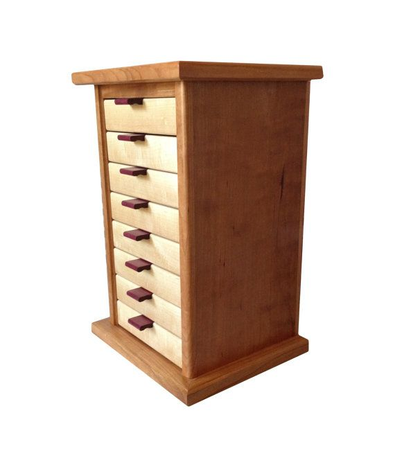 Large Cherry And Maple Jewelry Box By BlueSkiesHomestead