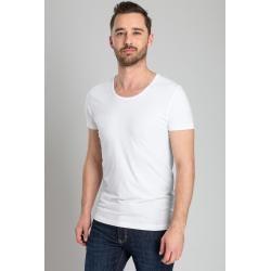 Suitabe T-shirt Stretch 2er Pack O-Ausschnitt Weiss