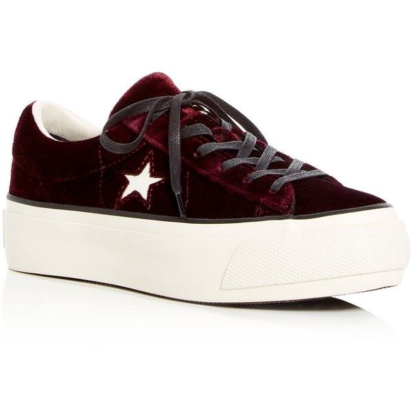 8360ef7bc2b7f6 Converse Women s One Star Ox Velvet Platform Lace Up Sneakers (1.225.170  IDR)