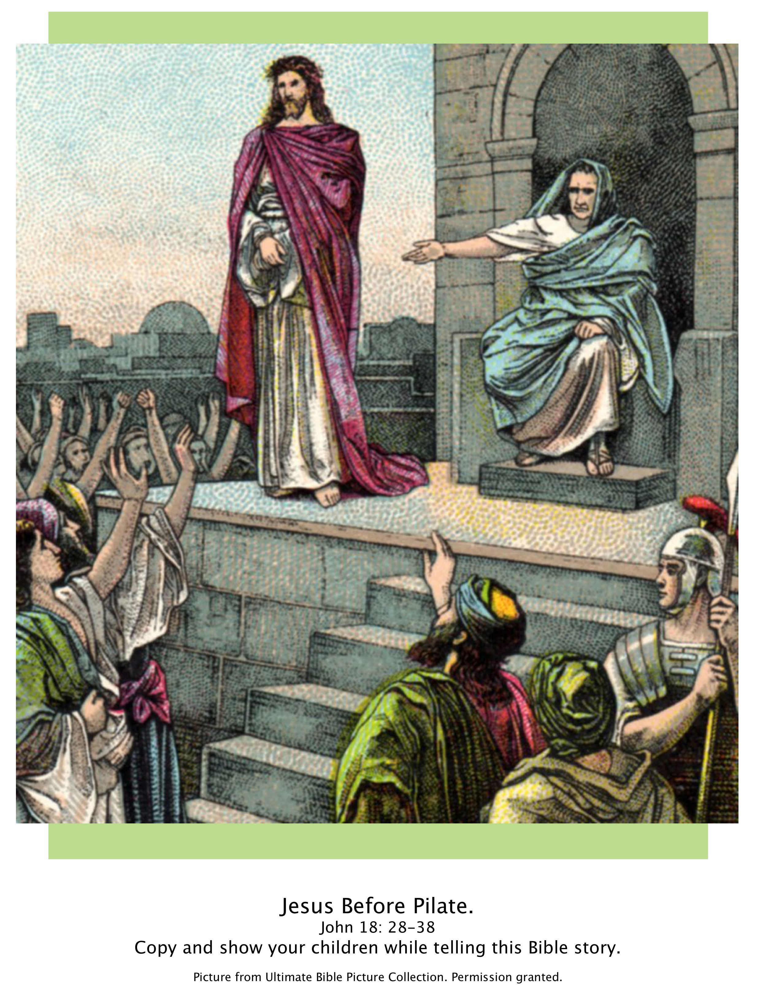 bible story picture of jesus before pilate john 18 28 38 show