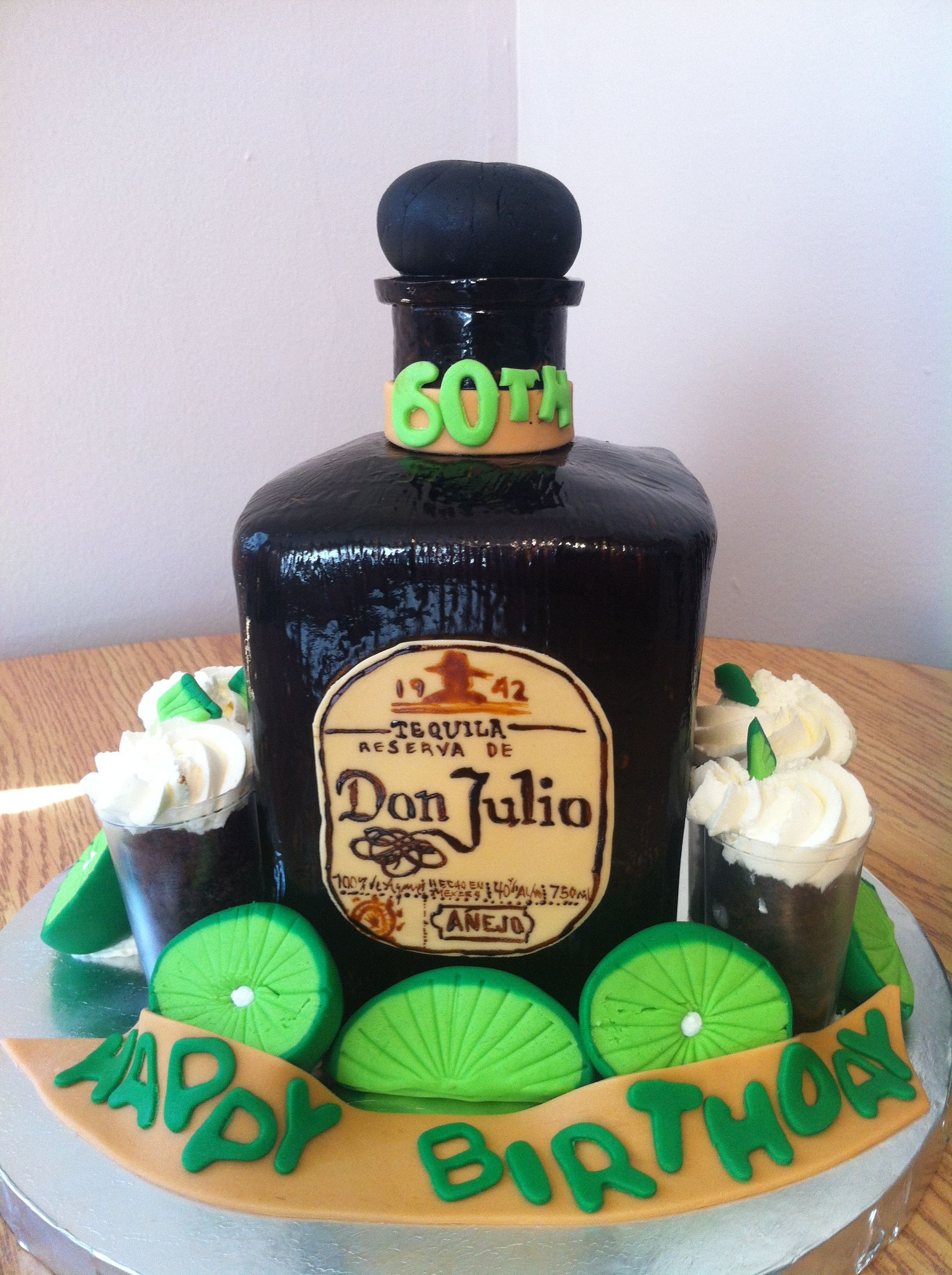 Don Julio Bottle Made All Out Of Cake Perfect For Any