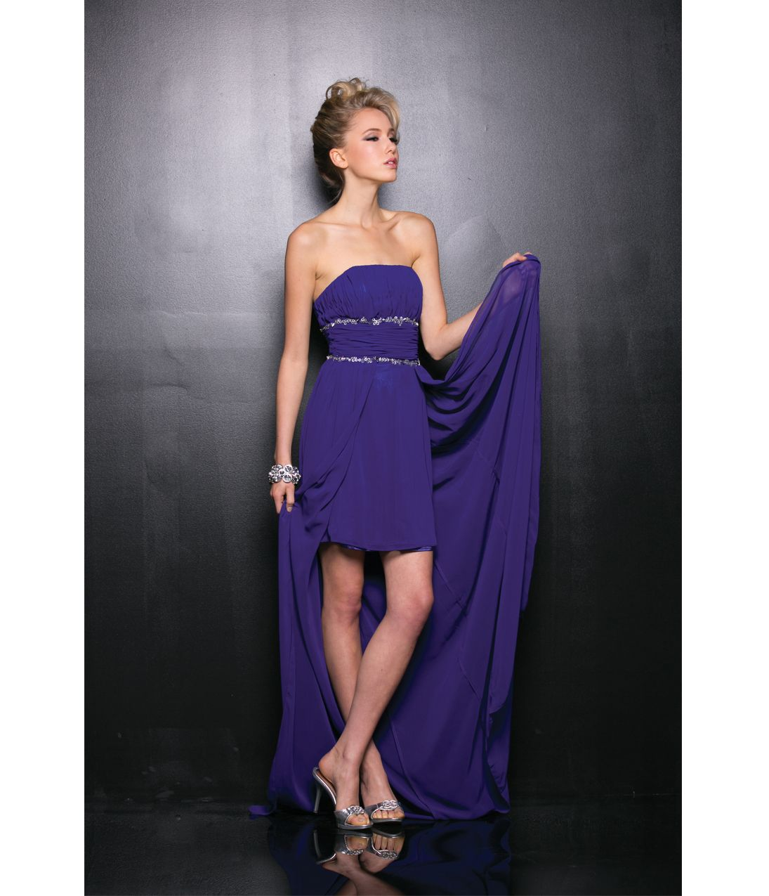 Purple High Low Dresses