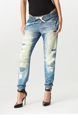 Lounge Jean Fleece Pants At Guess Jogger Jeans Jogger Pants Fleece Joggers
