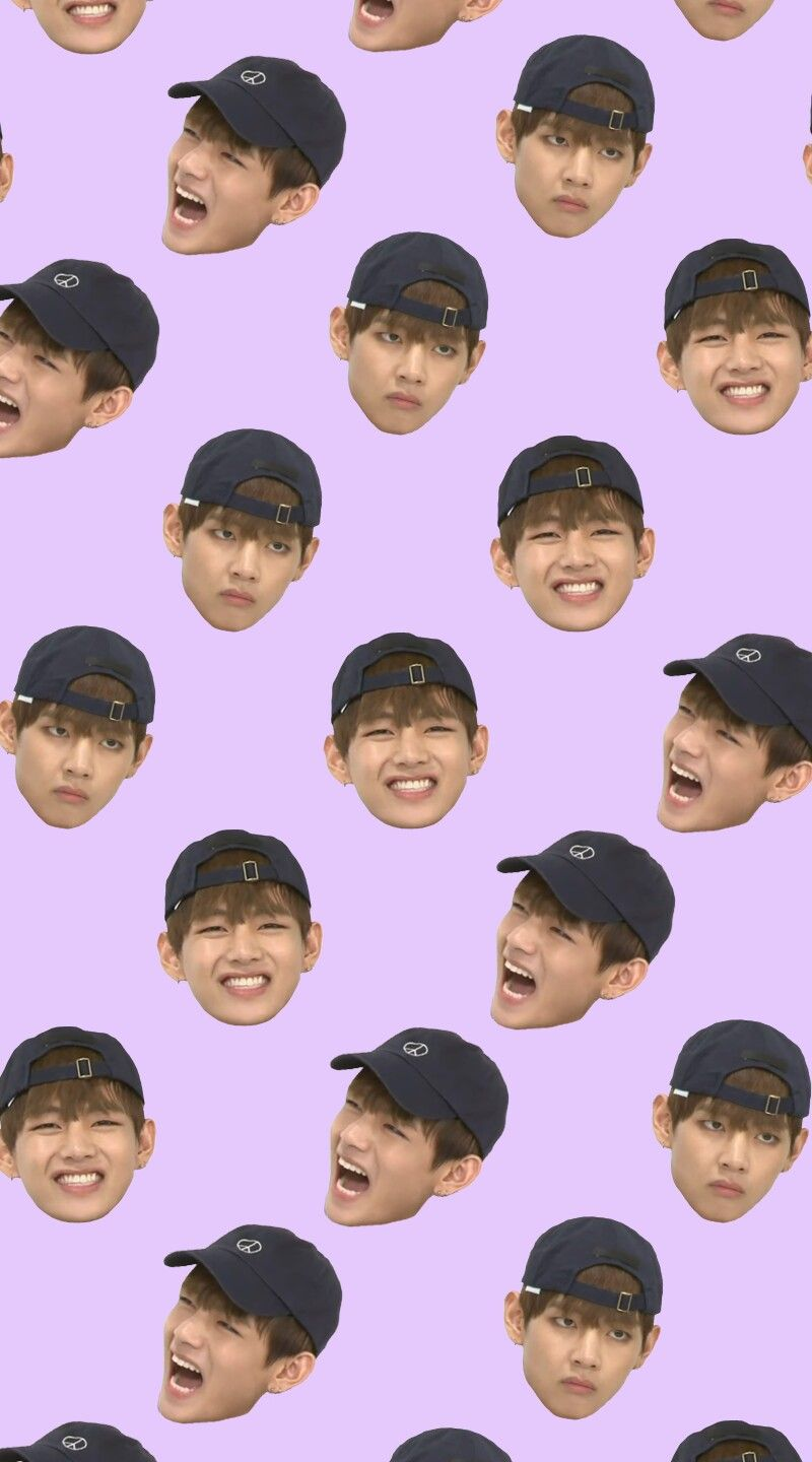 BTS 'Weekly Idol V Derp Face' Wallpaper | bts phone backgrounds