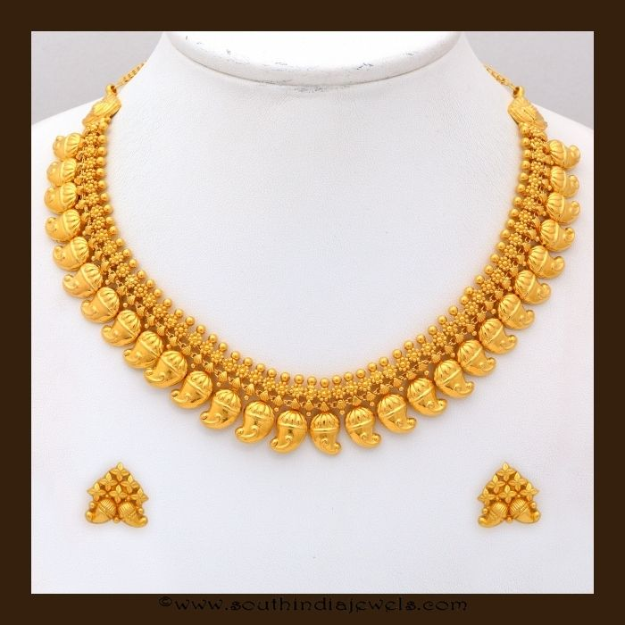 Classic Gold Mango Mala from VBJ Gold Jewel and India jewelry