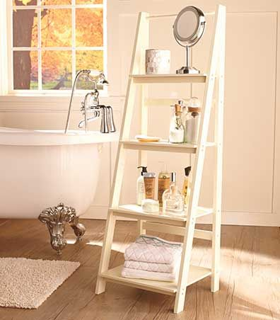 Ladder Shelf Or Wire Baskets Wooden Ladder Shelf White Ladder Shelf Bookshelves In Living Room