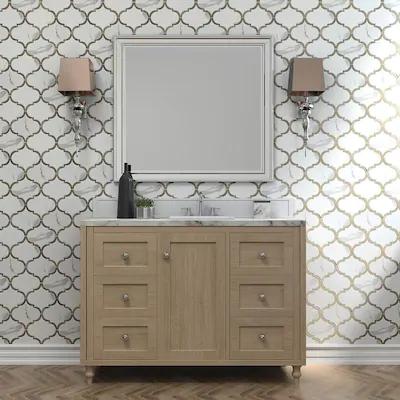 Elida Ceramica White 10 In X 13 In Carrara Look Porcelain Lantern Mosaic Wall Tile Lowes Com Mosaic Wall Tiles Wall Tiles Mosaic Wall