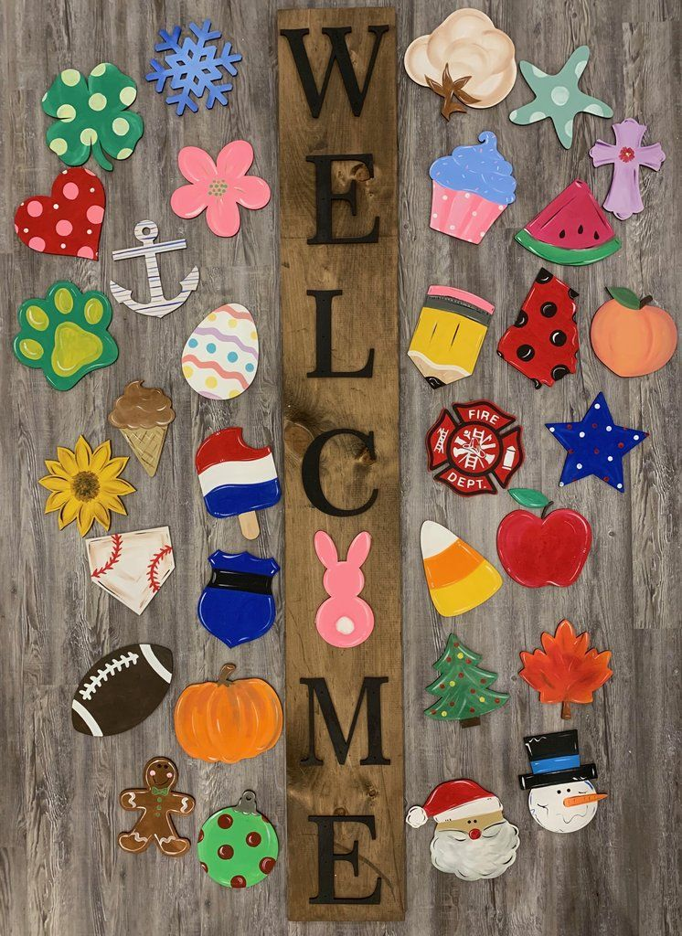 Interchangeable Welcome Sign Crafts Cricut Crafts Diy Crafts