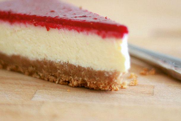 new york cheesecake mit himbeerspiegel rezept cakes pinterest backen kuchen and einfacher. Black Bedroom Furniture Sets. Home Design Ideas