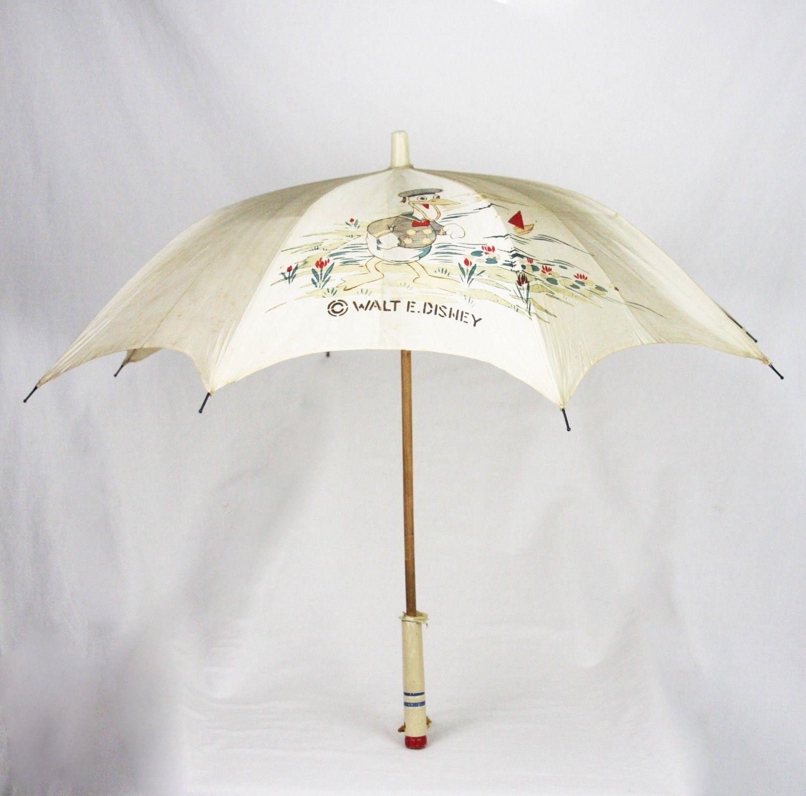Vintage Disney Donald Duck Child S Umbrella Ca1930 Vintage Disney Disney Gifts Donald Duck