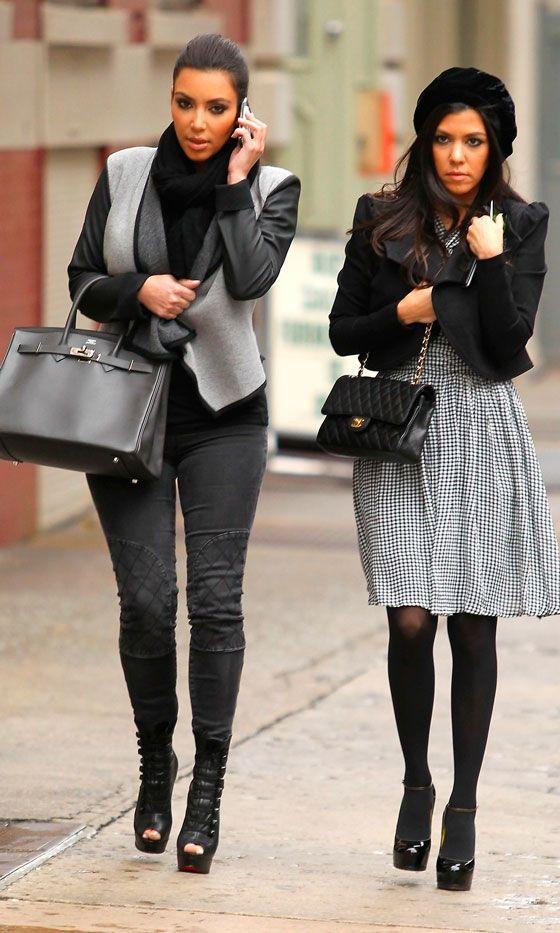 40238489a83 Kourtney And Kim Kardashian Hit New York In Style
