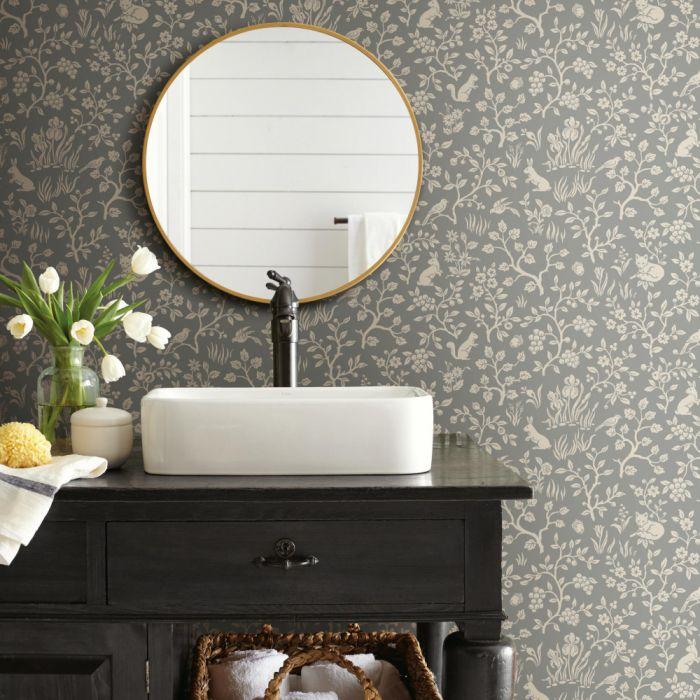Fox Hare Sure Strip Wallpaper Magnolia Homes Stripped Wallpaper Home Wallpaper