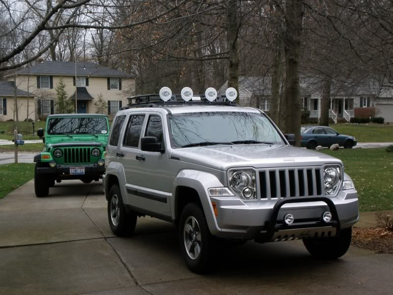 Bull Bar Roof Rack And Lights Installed Jeep Liberty 2012 Jeep