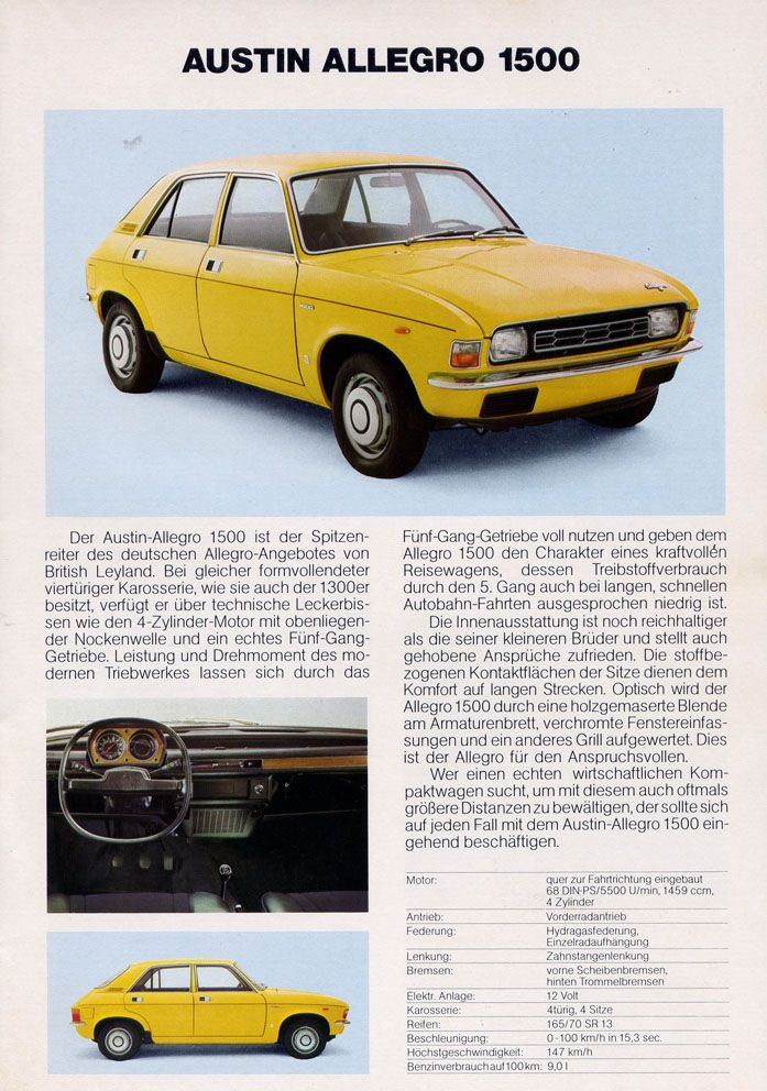 Pin By Toni Daimler On Austin Allegro Car Advertising Car Ads Retro Cars
