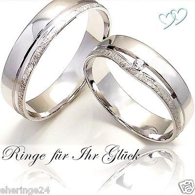 2 Silber 925 Trauringe Eheringe Verlobungsringe Partneringe Gravur