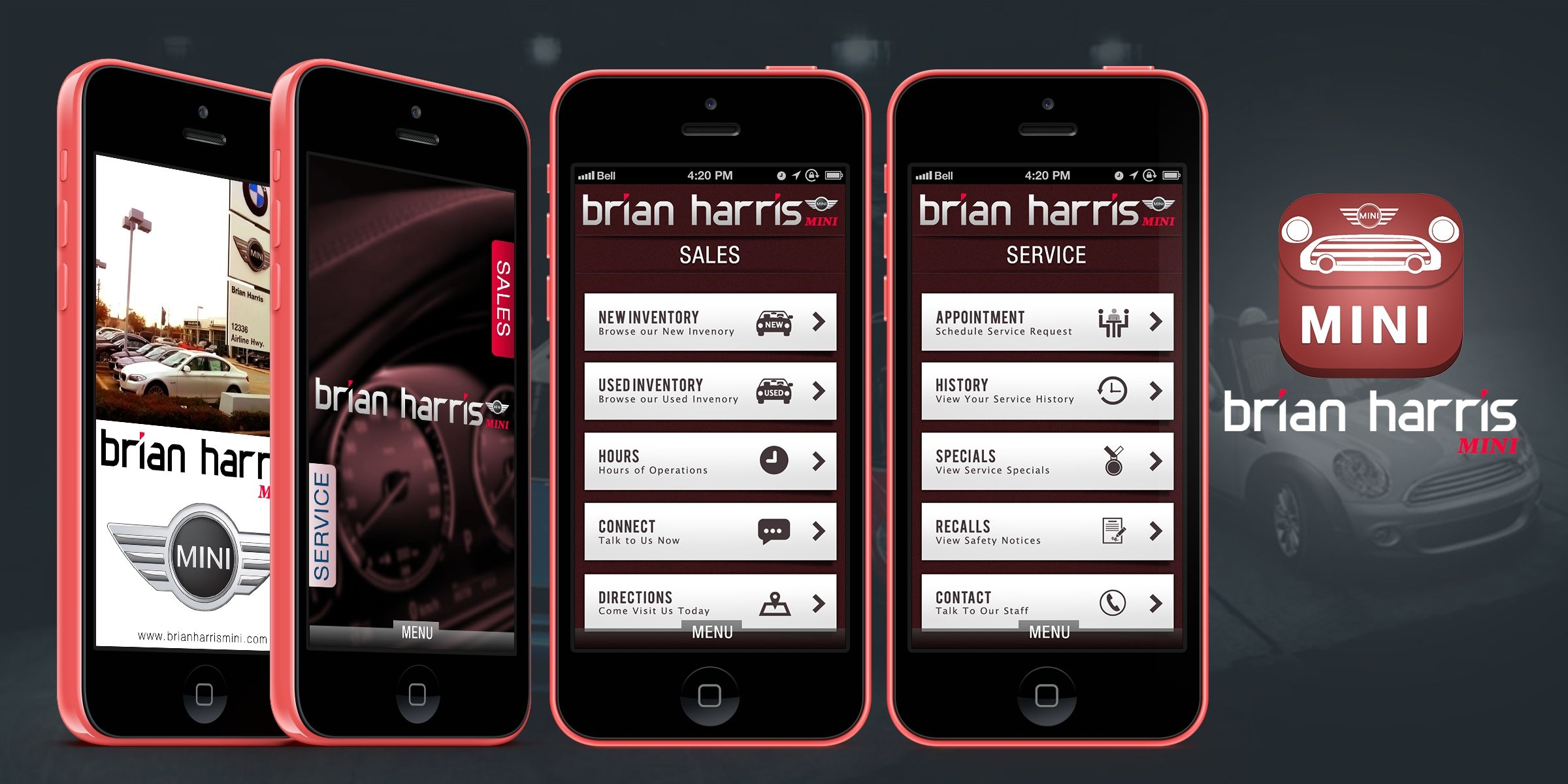 Iconic Solutions Brian Harris Mini Is A Baton Rouge And New Orleans Mini New And Used Car Dealer With Mini Mobile App App Development Mobile App Development
