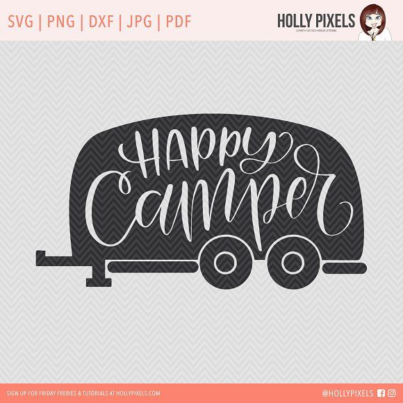 Happy Camper SVG Cut File Creativework247