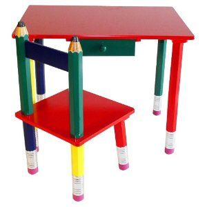Beck Children S Wooden Pencil Desk And Chair For Luke