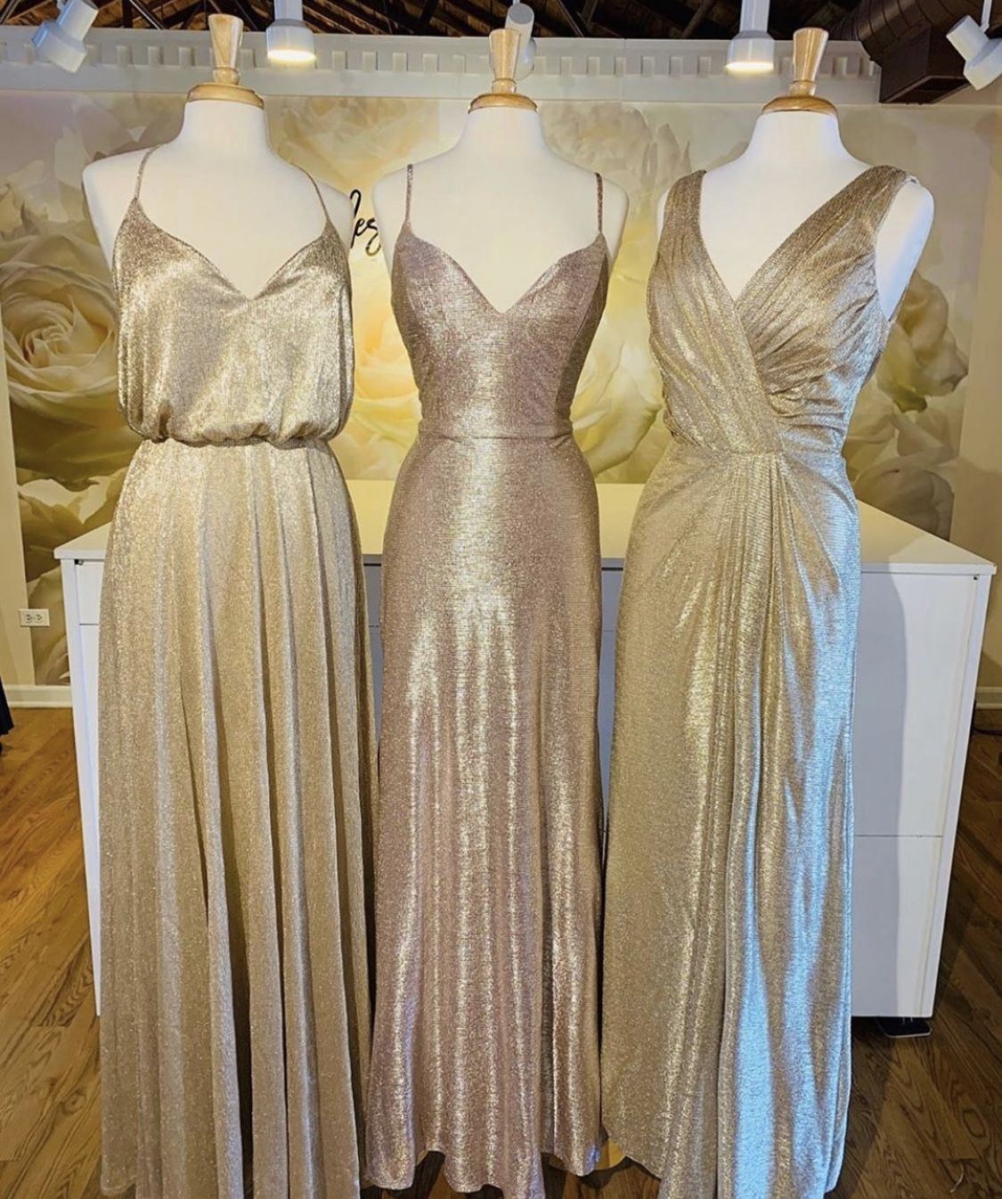 15+ Gold metallic bridesmaid dress ideas