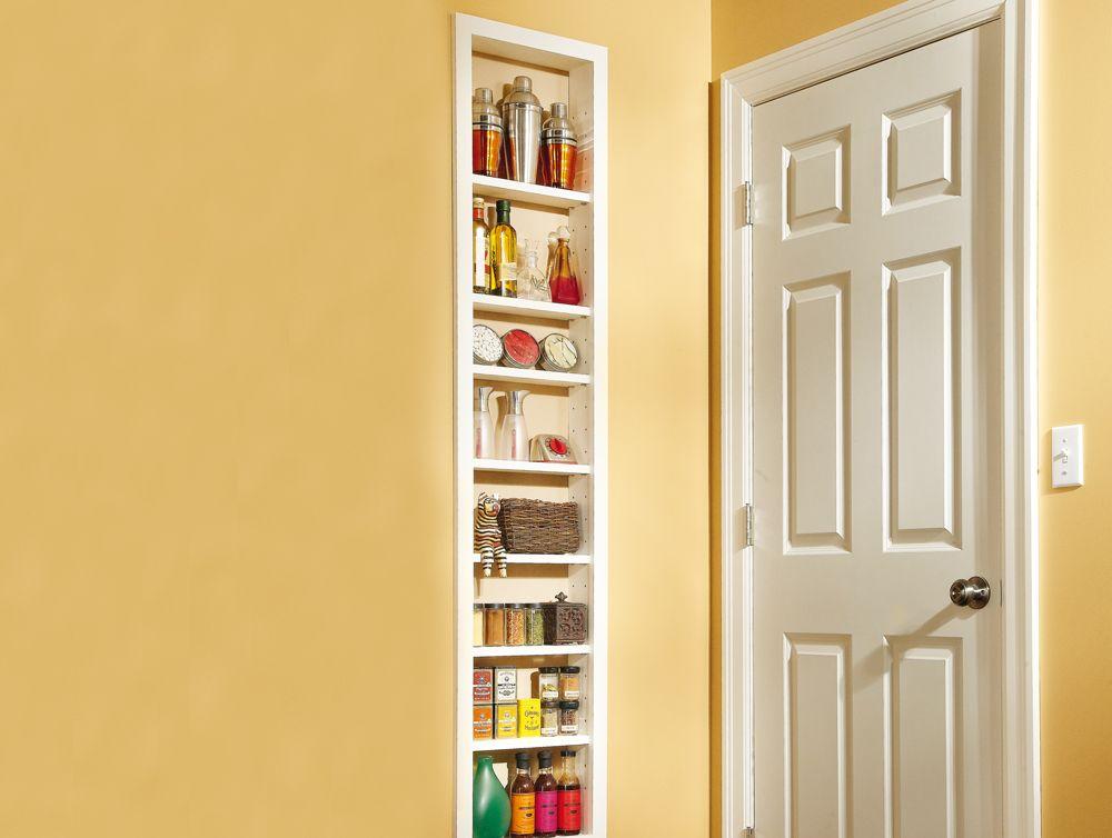 Budget Built-In Shelving | Wall stud, Handyman magazine and Shelving
