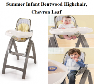 Summer Infant Bentwood Highchair Chevron Leaf In Gray From Antique
