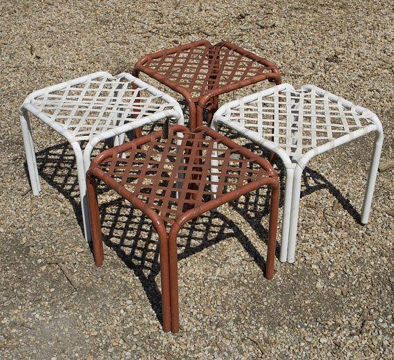 Patio Furniture Stores Washington Dc: 4 Tamiami Brown Jordan Ottomans Patio Beach Furniture