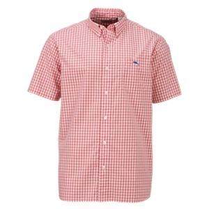Bob Timberlake Yarn-Dyed Plaid Shirt for Men - Coral Gingham - XL